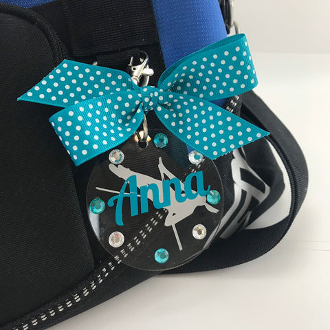 Pole Vault Bag Tag, Personalized