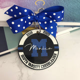 Sport Circle Bag Tag, Any Sport, Aluminum Bag Tag, Team Gifts, Personalized, Monogrammed