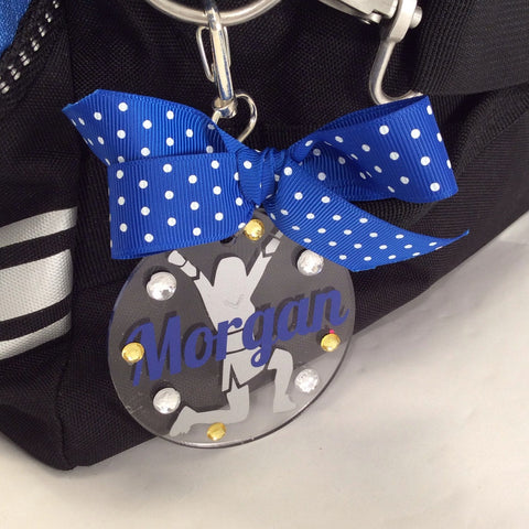Cheerleader Bag Tag VUp,  Personalized, Cheerleading Accessories, Cheerleading Decor, Cheerleading Party, Cheerleading Bag Tag, Backpack Tag