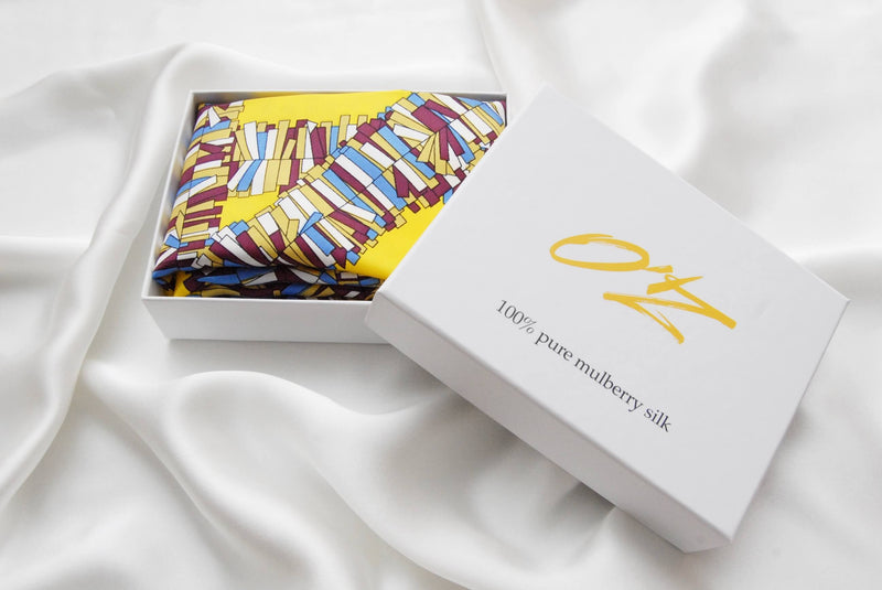 "Silk scarf ""Abstract"" - Empire of O'Z"