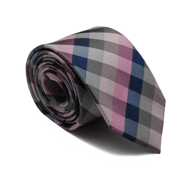 Silk tie with checked print - Empire of O'Z