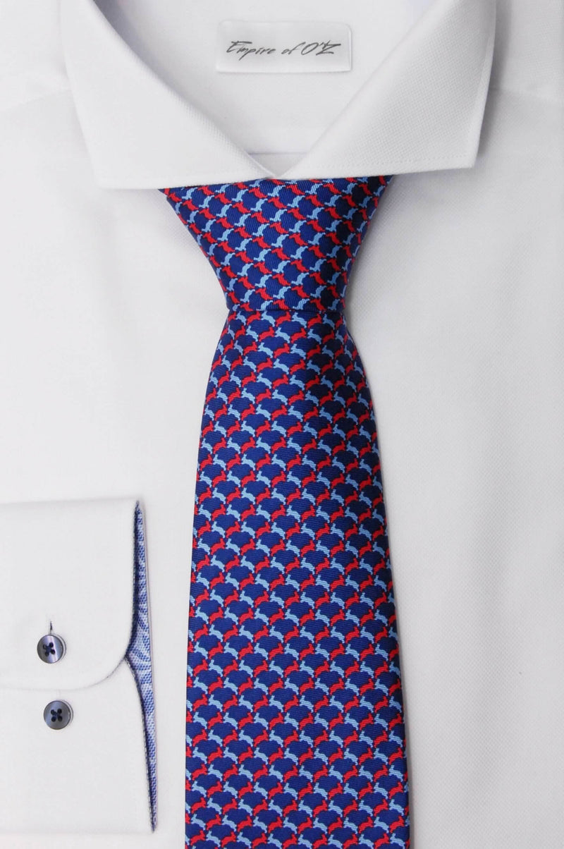 "Silk tie ""Two wild hares"" - Empire of O'Z"