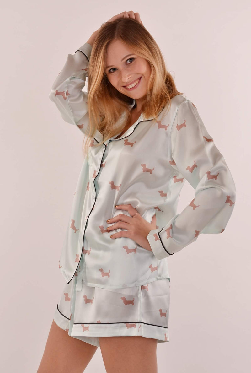"Pajama set ""Badger dog"" with long sleeves and short trousers - Empire of O'Z"