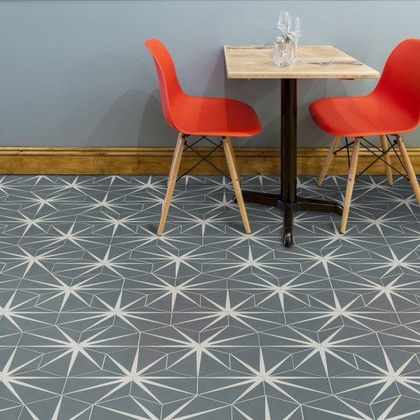 Lily Pad Denim Pattern Tile