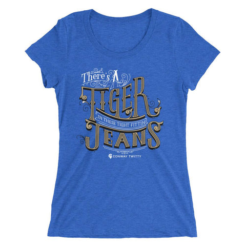 Image of Conway Twitty Tight Fittin Jeans Fitted Ladies' Tee