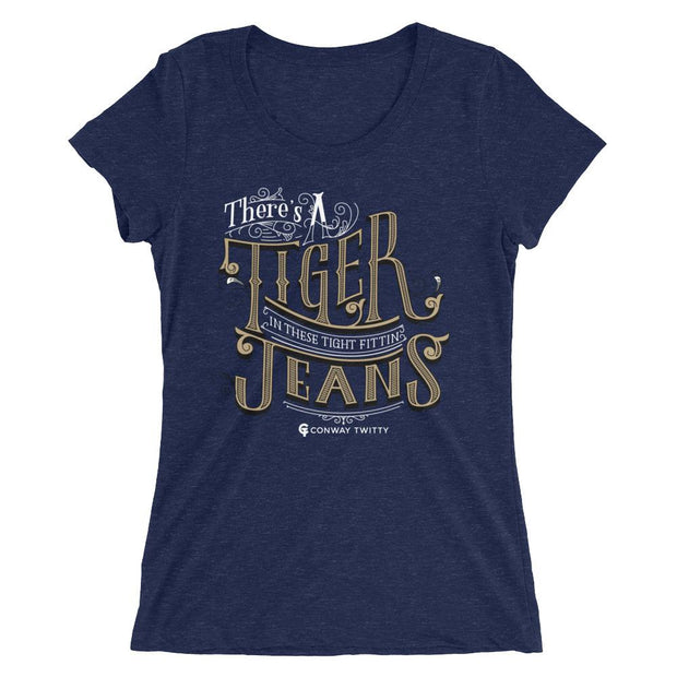 Conway Twitty Tight Fittin Jeans Fitted Ladies' Tee