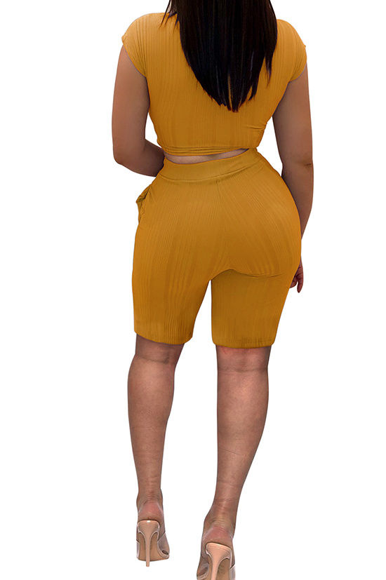 Knot your girl 2 (goldenrod) | Two piece short set