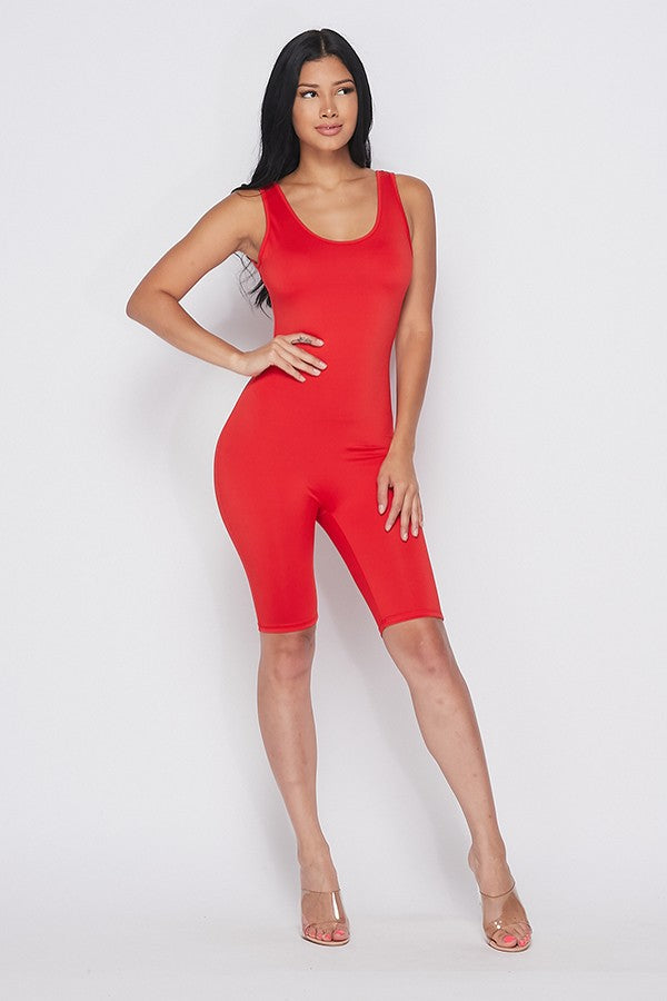 Call you later biker romper (red)