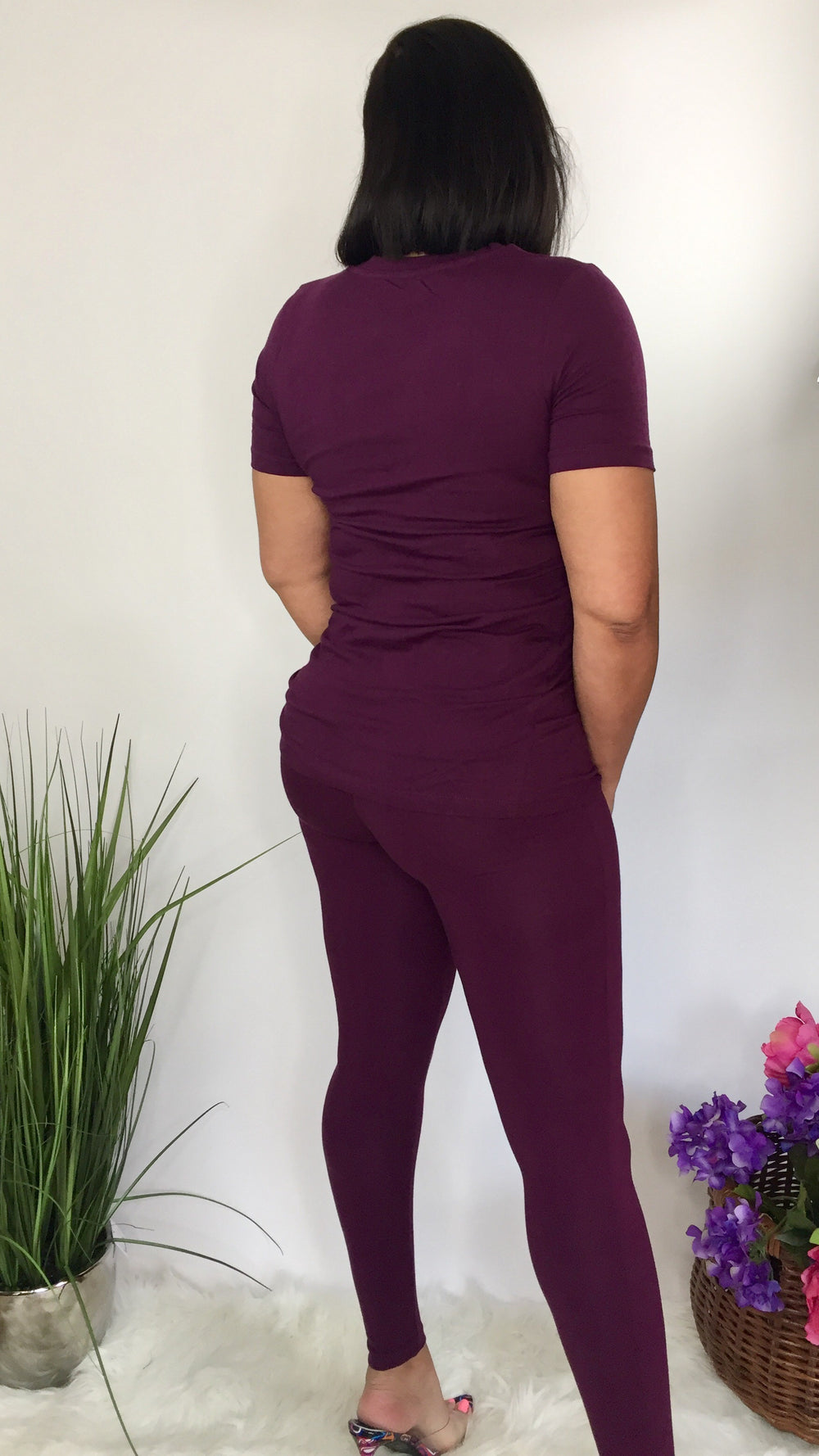 Sweet and Simple | Two piece legging set (plum)