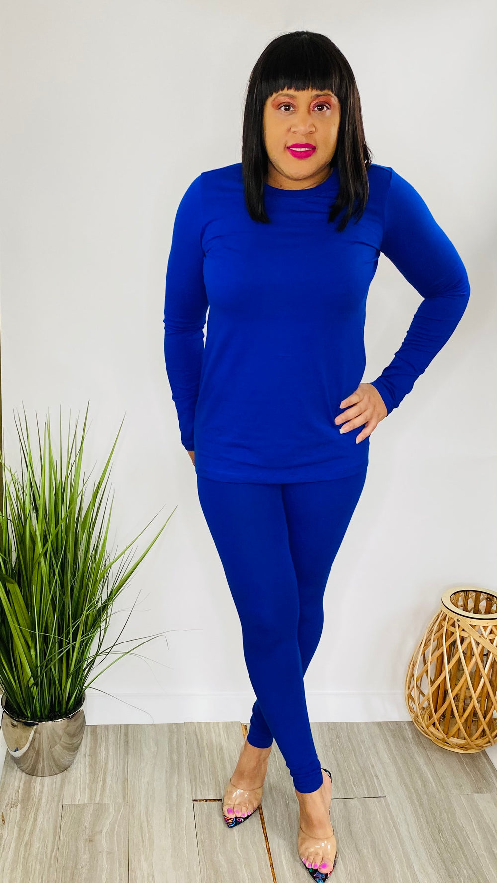 Saturday Mornings - Two piece legging set (Blue)