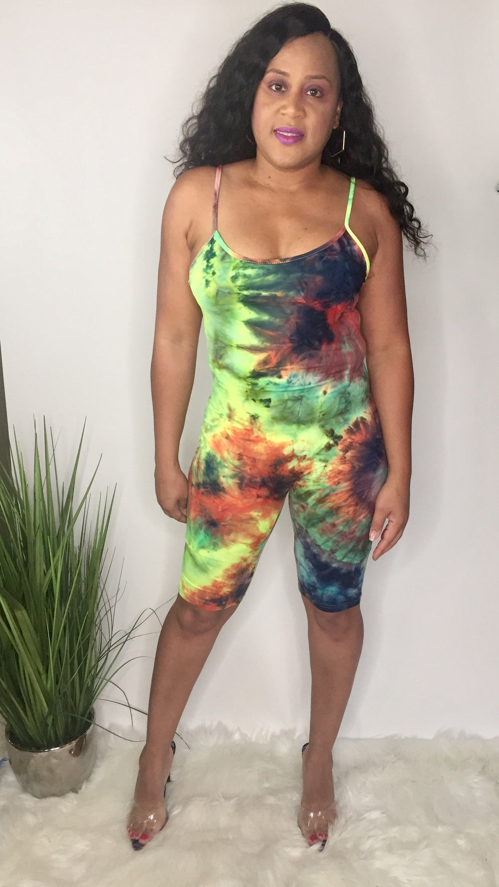 Fruity Pebblez | Tie dye romper (multicolor)