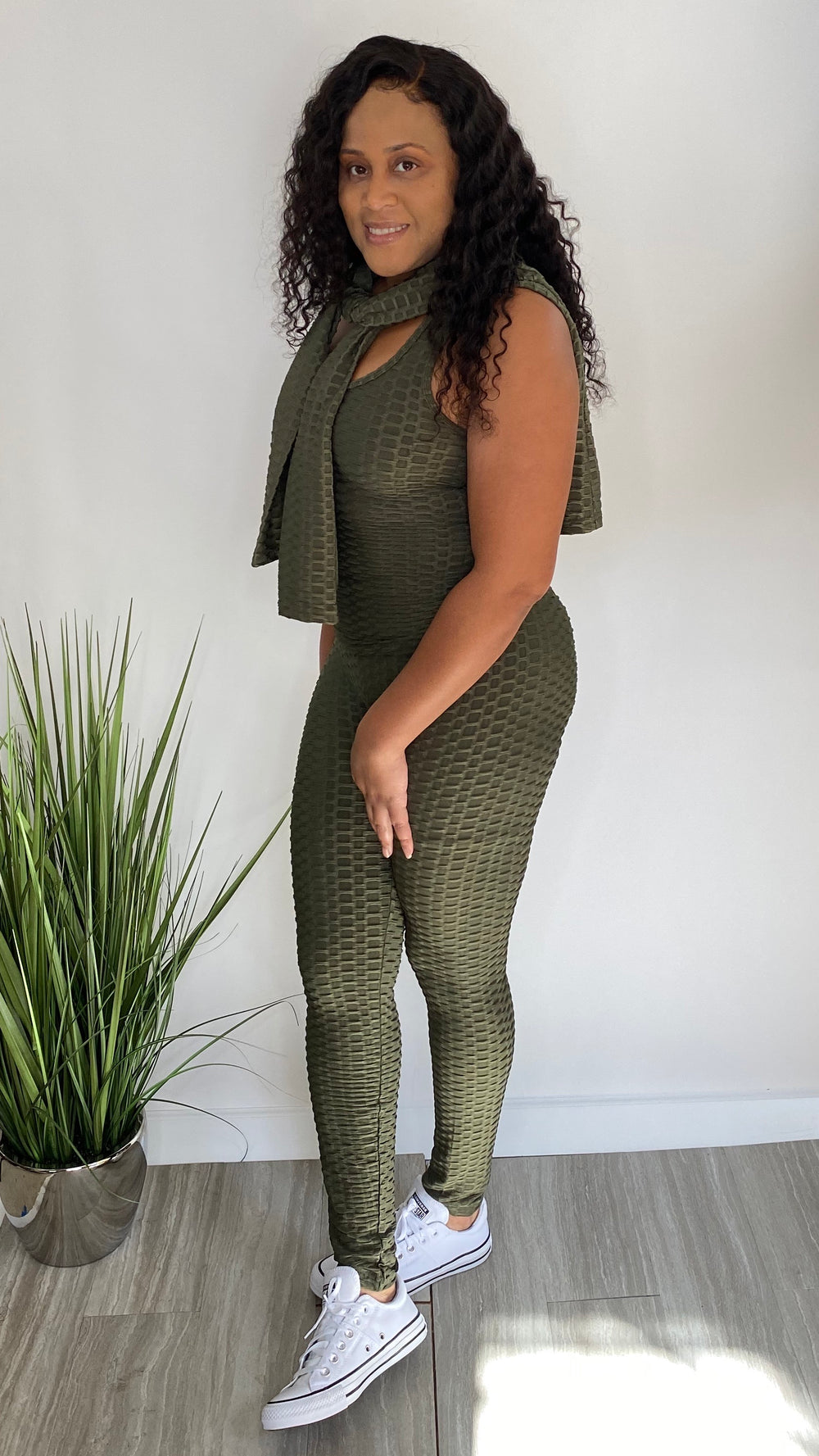 Places to Be | 3 piece Brazilian track suit set (olive)