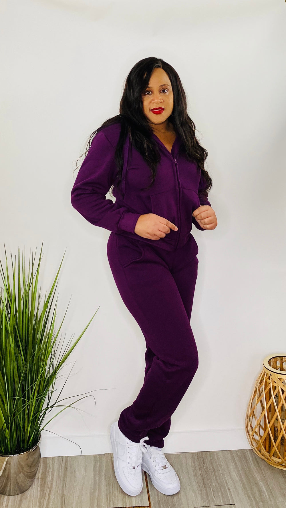 Weekend Favorite - Basic Sweatsuit (Purple)