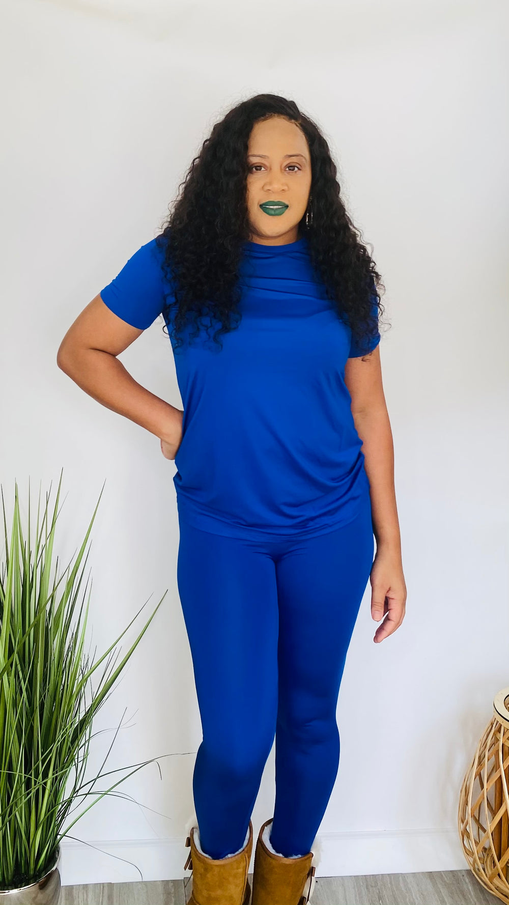 Everyday Chill - 2 piece legging set (Royal Blue)