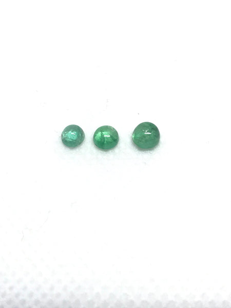 Deep Green color #G-00048 100/% Natural Lively creative. Emerald  Half Moon Fancyt Shape 4.48x7.37 mm appx