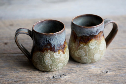 Earthy drippy mug 8-10 oz