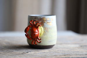 Crab Handle Beach Cracked Earth 22 gold mug 12 oz  #2 (yellow attachment)