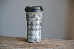 travel mug birds on a wire V1 16 oz ON SALE
