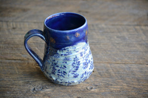 Dandelion blue large mug 22 oz