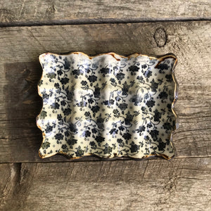 Egg carton - black floral print