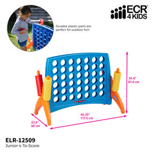 ECR4Kids Junior 4-To-Score Game Indoor and outdoor play connect 4 game, easy to assemble - Rainbow Playhouses