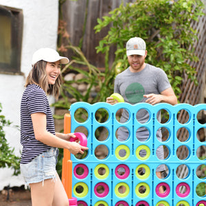 ECR4Kids Jumbo 4-To-Score Game Indoor and outdoor play Backyard Games for Kids Giant 4-in-A-Row - Rainbow Playhouses
