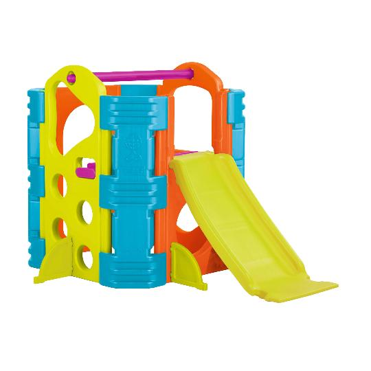 ECR4Kids Activity Park - Climb and Slide Playset, Reversible Slide and Stairs, Easy Adult Assemble, Easy To Clean - Rainbow Playhouses