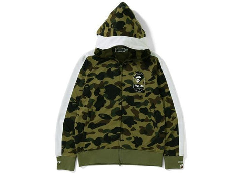 Bape 1st Camo Line Hooded Jersey Top