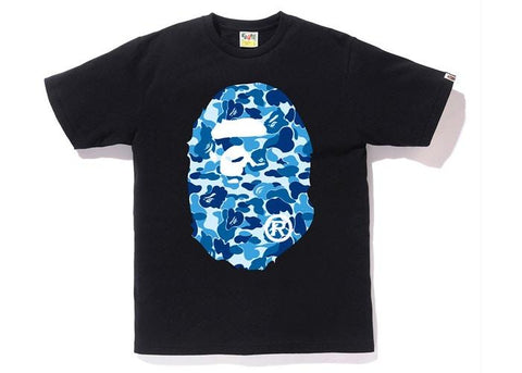 Bape Ape Head ABC Blue Camo Tee