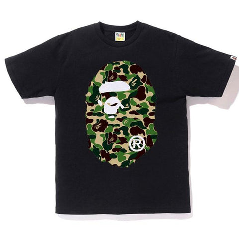 Bape Ape Head ABC Green Camo F/B Tee