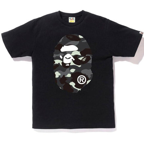 Bape Ape Head Black City Camo Front Tee