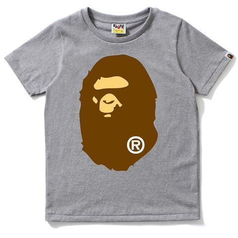 Bape Ape Head Brown Tee