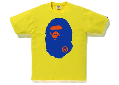 Bape Ape Head Colors Yellow Tee