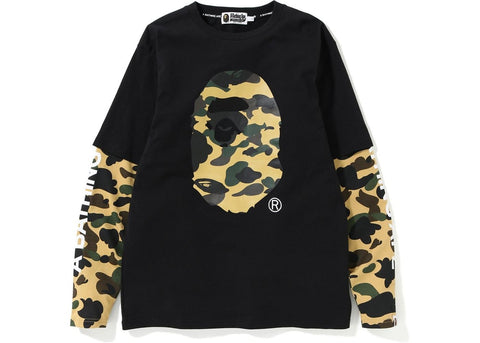 Bape Ape Head Layered L/S Tee