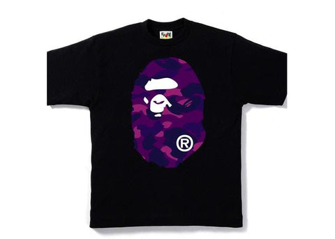 Bape Ape Head Purple Camo F/B Tee