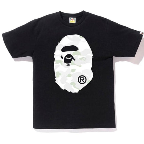 Bape Ape Head White City Camo Front Tee