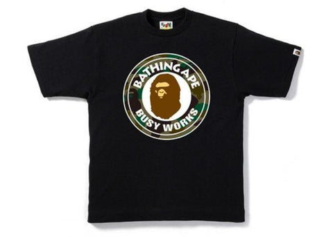 Bape Busy Works Green Camo Tee