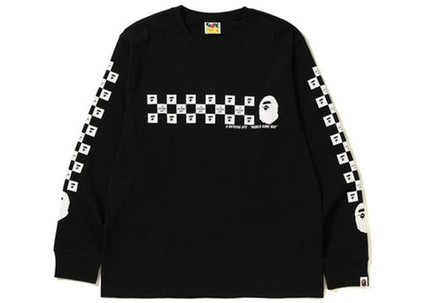 Bape Checker L/S Tee