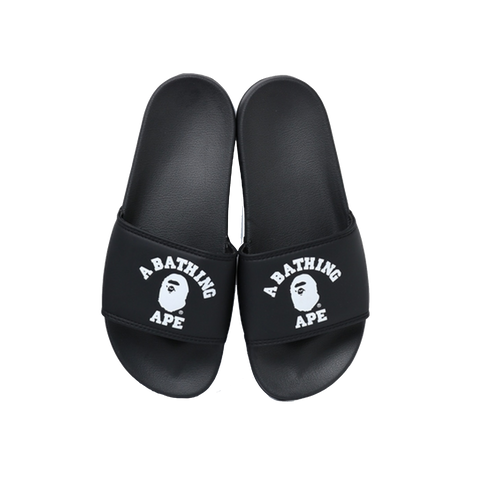 Bape College Slide Sandals 'Black'