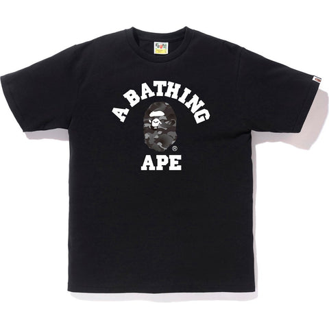 Bape College Black Gradation Camo Tee