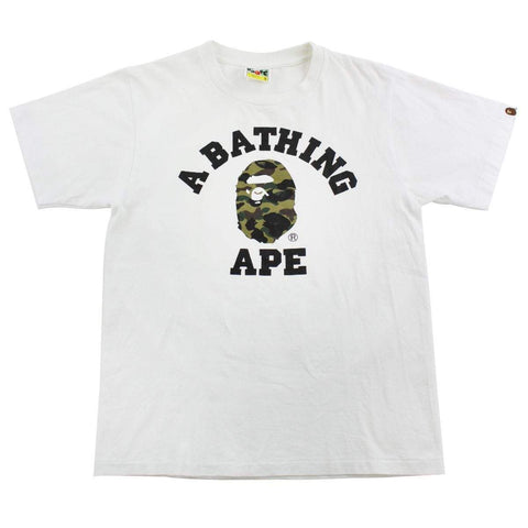 Bape College Green Camo Tee
