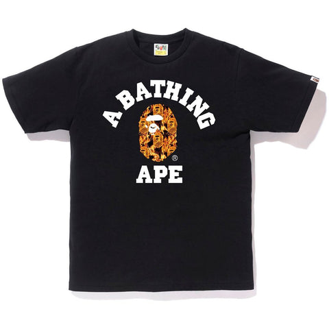 Bape College Orange Flame Tee