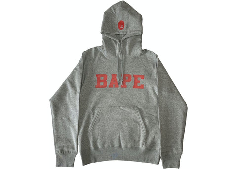 Bape Red Font Pullover Hoodie 2019