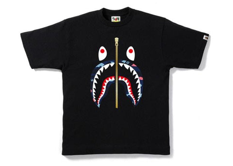 Bape Shark ABC Blue Camo Lip Tee
