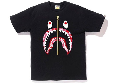 Bape Shark ABC Pink Camo Lip Tee