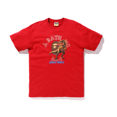 Bape x Jurassic World College Tee 'Red'