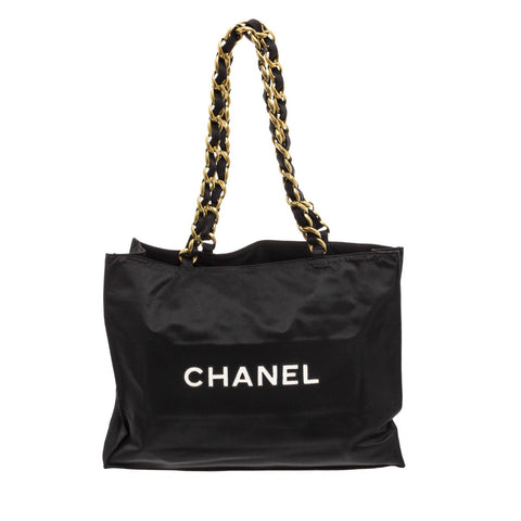 Chanel Nylon CC Large Tote Bag 'Black'