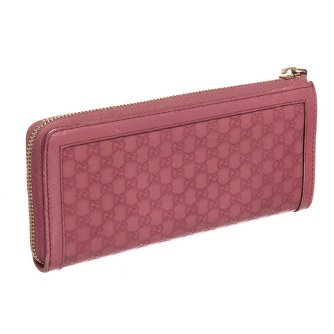 Gucci Guccissima Leather Zippy Wallet 'Pink Monogram'