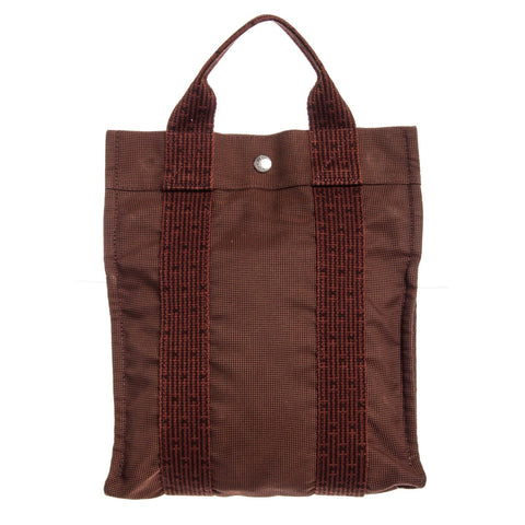 Hermes Canvas Fourre Tout Cabas Tote Backpack 'Brown'