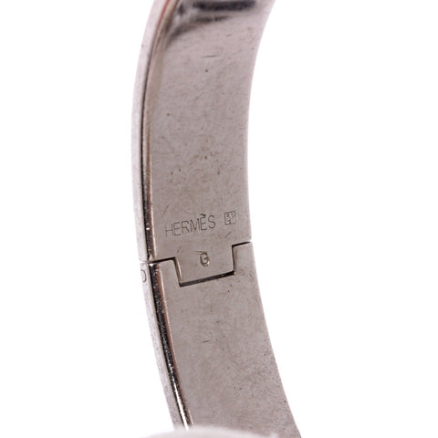 Hermes Orange Enamel Palladium Plated Narrow Clic Clac Bracelet